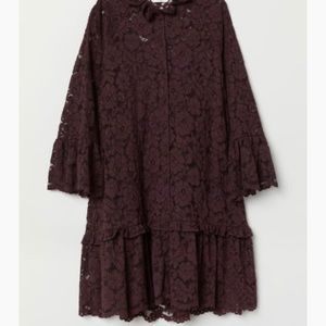 H&M dress in lace, ruffled collar